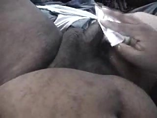 Pregnant amateur ebony gives head