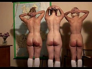 Naughty schoolgirls spanking at passionclips.com