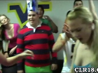 College party turns into fuck action