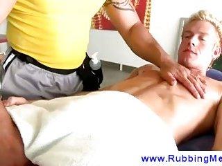 Unexpected blowjob massage