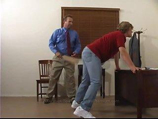 Spanking Chris butt