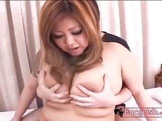 Sexy asian gets her tits sucked on and fucked | Big Boobs Update
