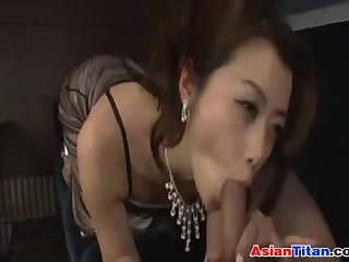Asian Babe Sucking Cock At The Club